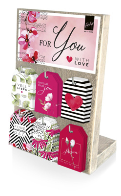 Display 6-haaks - For you with love